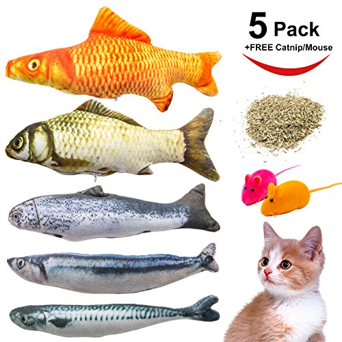 Where to find cat toys fish refillable?