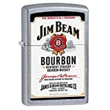 Jim Beam Street Chrome Zippo Outdoor Indoor Windproof Lighter Free Custom Personalized Engraved Message Permanent Lifetime Engraving on Backside
