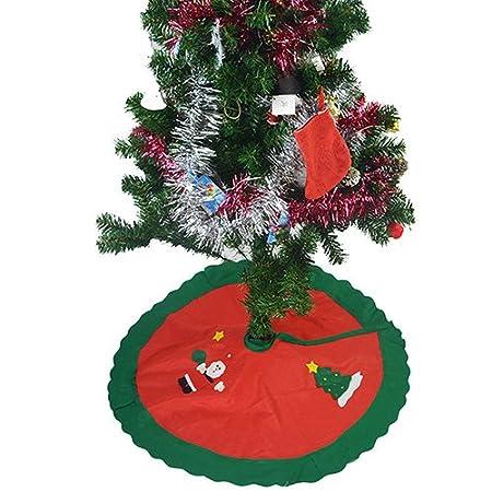 yongqxxkj Decoración para Falda para árbol de Navidad, 87 cm-90 cm ...