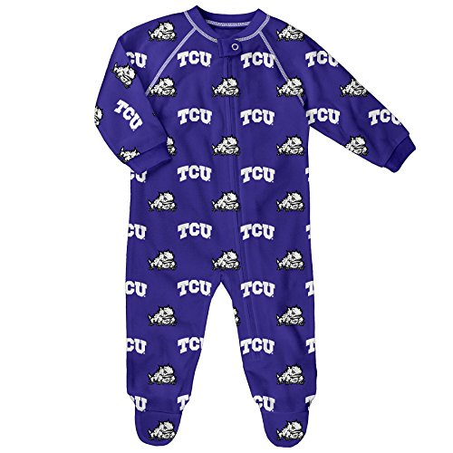 - NCAA by Outerstuff NCAA Tcu Horned Frogs Newborn & Infant Raglan Zip Up Coverall, Purple, 0-3 Months