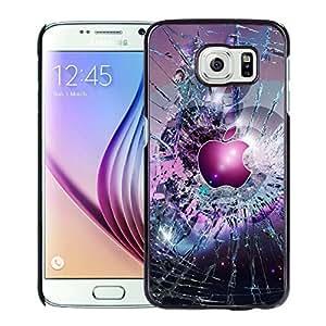 Apple Logo Broken Glass Hard Plastic Samsung Galaxy S6 G9200 Protective Phone Case