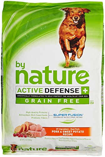 By Nature Active Defense Grain Free Dog Food - Pork And Sweet Potato - 22 Lb