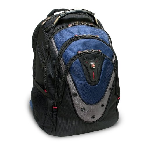 SwissGear Blue Ibex 17″ Computer Backpack, 15″L x 10″W x 19″H, Bags Central