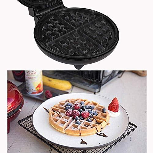 BBGSFDC Round Waffle Maker, Grand Quad Waffle avec ndash Contrôle Automatique de la température;1200W