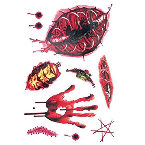 Temporary Tattoos Sticker, Oksale® Halloween Wound Scab Blood Pattern Scar Decor Paper