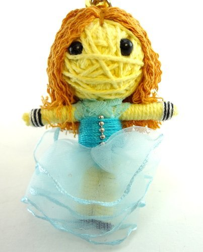 Alice in Wonderland Voodoo String Doll Key Chain Handmade Girl