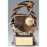 Golf Longest Drive Trophy with 3 lines of custom text