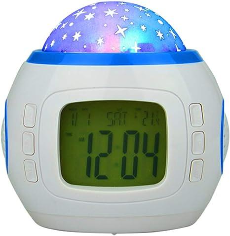 XJYA Reloj Despertador para niños con termómetro, Alarma y ...