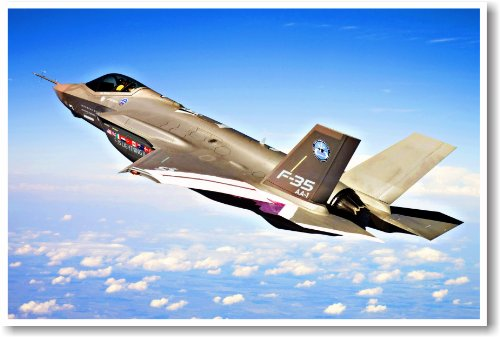 F35 Lightning Fighter Jet- NEW Military Us Air Force Poster
