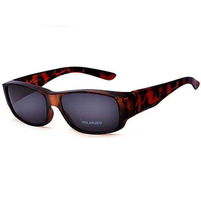 d7a4511498 Gafas de sol ajustadas de las mujeres por Ideal Eyewear Hombres - Gafas de  graduación desgastadas por encima de los anteojos - Lentes polarizadas: ...