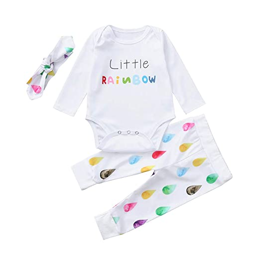 b46a4661 Amazon.com: AMSKY❤ Baby Boys Clothes 12-18 Months Carters,Infant Baby Girls  Boys Letter Raindrops Print Romper Jumpsuit Pants Outfits Set: Clothing