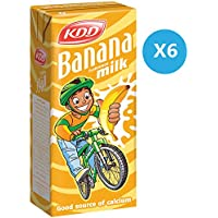 Kdd Banana Milk , Liquid, 180 ml x 6
