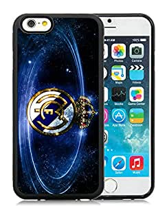 Real Madrid Football Black iPhone 6 4.7 inch TPU Cellphone Case Unique and Fashion Cover