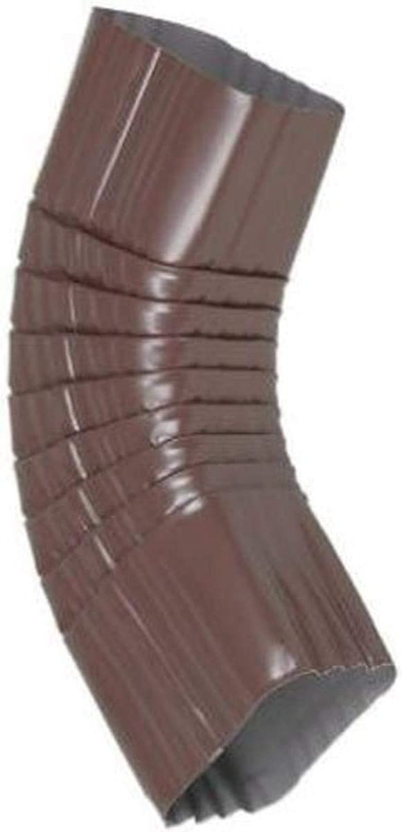 AMERIMAX HOME PRODUCTS 2526519 2 in x 3 in B or Side Elbow Brown Aluminum, Two-by-Three