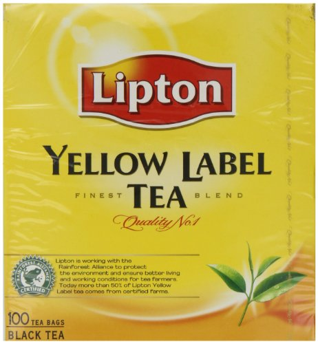 Lipton Yellow Label 100 Tea Bags (Pack of 3, Total 300 Tea Bags)
