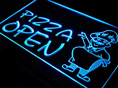 ADVPRO Cartel Luminoso i183-b Open Pizza Shop Cafe ...