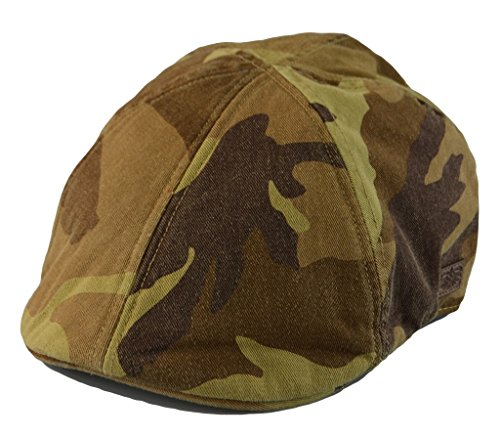 Camo Driver Hat (Mens Vintacge Look 6pannel Duck Bill Curved Ivy Drivers Hat One Size 3 Colors (Desert(Camo)))