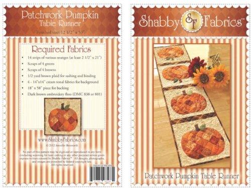 Shabby Fabrics Patchwork Pumpkin Table Runner Pattern COMINHKPR67653