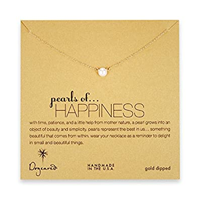 Dogeared Gold Dipped Pearls of Friendship Necklace: Amazon