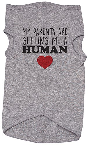 Baffle Cute Shirt for Dogs/My Parents are Getting ME A Human/Funny Puppy Tshirt (3XL)