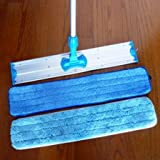 Heavy Duty Industrial and Commercial 36 inch Microfiber Mop and Two Microfiber Pads