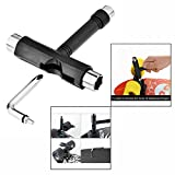 OFKP® Black Color Skate T Tool Skateboard T Tool for Penny Board T Tool for Longboard Screwdriver Metal All in One Tool