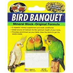 Zoo Med Mineral Block Original Formula Banquet Bird Food, 1-Ounce