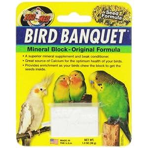 Zoo Med Mineral Block Original Formula Banquet Bird Food, 1-Ounce 69
