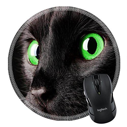 MSD Mousepad Round Mouse Pad/Mat 19607506 on black (Bar 366 Halloween)