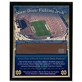Notre Dame Game Used Bench Slab Plaque