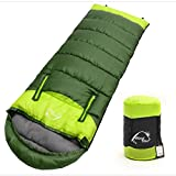 FLOLATIDIA Sleeping Bag - Outdoor Compressible Portable Waterproof Sleeping Bag, Stretch Hand for Design Thicker Warm Envelope Type Sleeping Bag, Suitable for Four Seasons, Hiking, Camping, Backpacker