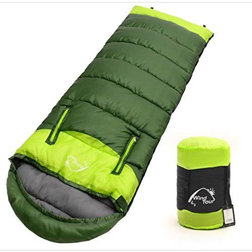 Sleeping Bag - Outdoor Compressible Portable Waterproof Sleeping Bag, Stretch Hand for Design Thicker Warm Envelope Type Sleeping Bag, Suitable for Four Seasons, Hiking, Camping, Backpackers, Men by HI Sunny