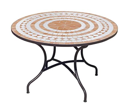 mosaïque Ronde cmJardin Table LORNY120 Hévéa Ø120 wPuOXliTZk