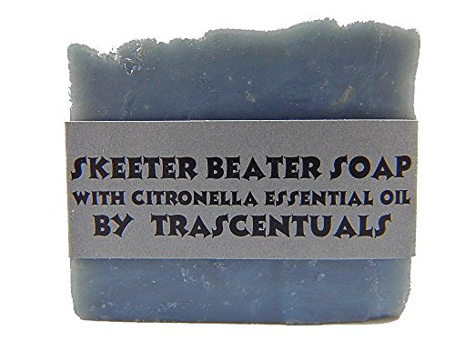Skeeter Beater Soap with Citronella Essential Oil to Repel Mosquitoes Ticks and Other Biting Insect (1 Soap with Case)