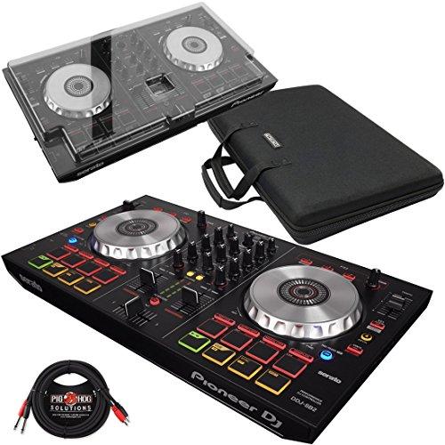 Pioneer DDJ-SB2 DJ Controller & Magma MGA47970 Control-Case XL & DeckSaver Polycarbonate Protective Cover w/ Pig Hog Cable - Bundle (Control Pioneer Dj)