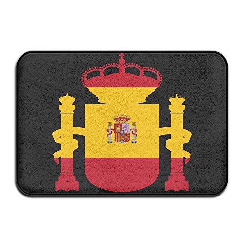 Fuucc-6 Inside & Outside Carpets Floor Door Mat Spain Flag Design Pattern For Front Porch by Fuucc-6