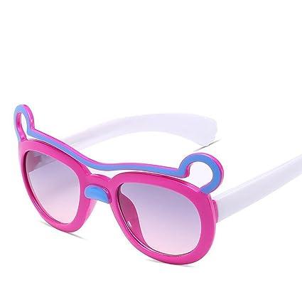 BiuTeFang Gafas de Sol Mujer Hombre Polarizadas para Niños Brillantes Color Espejo Oreja Encantadora Decoración Marco