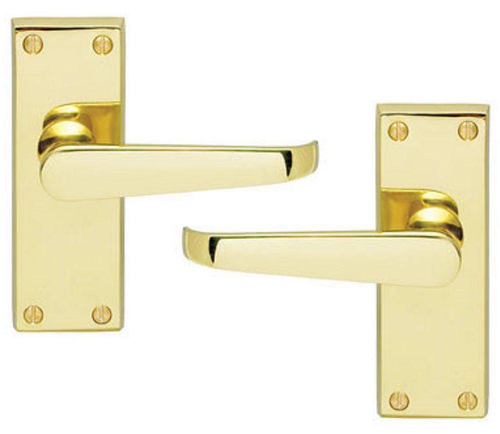 Carlisle Brass CBV31 Latch Door Handles Pair 118 x 40mm