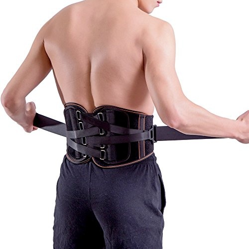 King of Kings Lower Back Brace Pain Relief with Pulley System - Lumbar Support Belt for Women and Men - Adjustable Waist Straps for Sciatica, Spinal Stenosis, Scoliosis or Herniated Disc -XL by King of Kings