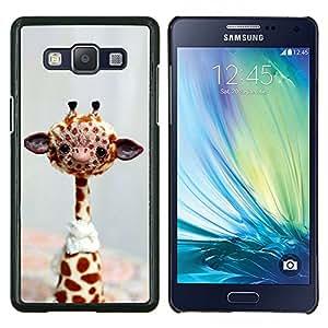 TECHCASE---Cubierta de la caja de protección para la piel dura ** Samsung Galaxy A5 ( A5000 ) 2014 Version ** --Divertido friendly jirafa
