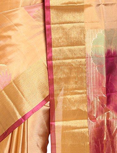 Mandakini — Indian Women's Kanchipuram - Handloom - Pure Silk Saree (Off-White) by Mandakini (Image #2)