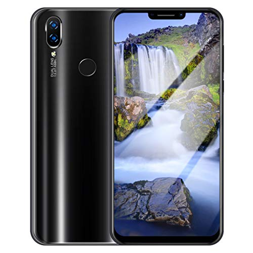 Price comparison product image Dacawin_Smart Phones Unlocked Phone,6.1Inch 8 MP Dual HD Camera Full Curved Screen Ultra Smarthone Android 6.0 1GB+8GB GSM WiFi Bluetooth Dual SIM 3G Cellphone (Black C, Include 32GB Card)