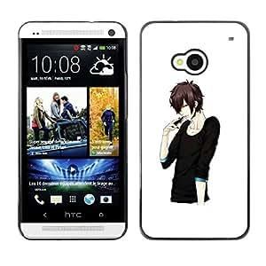 Be Good Phone Accessory // Dura Cáscara cubierta Protectora Caso Carcasa Funda de Protección para HTC One M7 // Japanese Anime Black Man Guy Asian