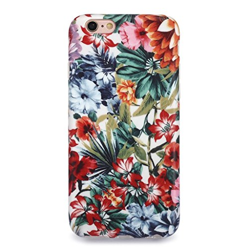 Finish Flower (iPhone 6S Case for Girls/iPhone 6 Floral Case, GOLINK Floral Series MATTE Finish Slim-Fit Anti-Scratch Shock Proof Anti-Finger Print Flexible TPU Gel Case For iPhone 6S/iPhone 6 - Colorful Florals)