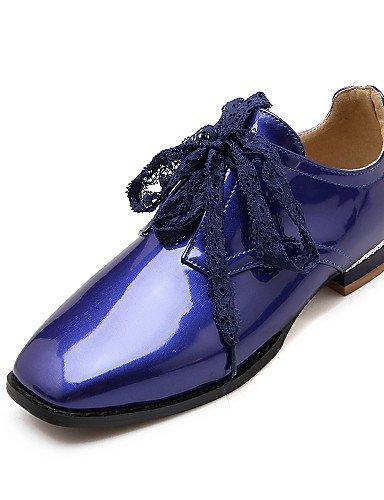 Rot us10 Schwarz Heels Flacher Lackleder Blau Quadratische Zehe High 5 NJX eu42 blue uk8 cn43 Absatz Beige 5 Damenschuhe Lässig Absätze hug xaqgtO