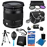 Sigma 17-70mm F2.8-4 DC Macro OS HSM Lens for Nikon Mount Digital SLR Cameras includes Bonus Xit 60'' Photo / Video Tripod and More