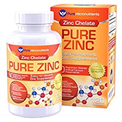 Pure Micronutrients' Pure Zinc is an EASY-TO-SWALLOW gentle zinc supplement that provides over 100% of your required daily intake in a convenient 4 month supply bottle.  Pure Zinc is a PRACTITIONER APPROVED and formulated zinc chelate formula...