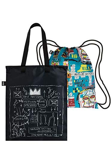 LOQI Museum Jean Michel Basquiat's Crown & Skull Duo Backpack