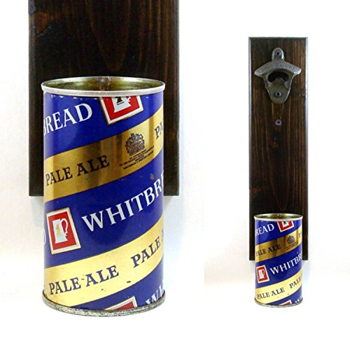 Wall Mounted Bottle Opener With A Whitbread Pale Ale British Beer Can Cap - Ale Whitbread