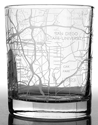 p Glasses, Unique Gifts, Etched Map Glassware Set ()